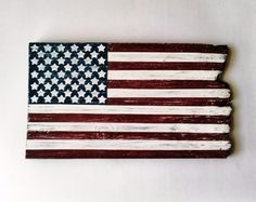 Wood American Flag, Patriotic Wall Decor, Rustic/Country Home Decor ...