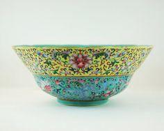 Vintage Chinese Porcelain Bowl Enameled by TheBasementVault