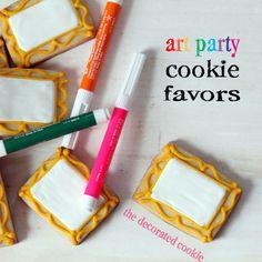 art party cookie favors