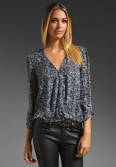 Joie Yogini Abstract Print Blouse in Midnight