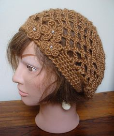 Crocheting: Tawny Tam Ravelry Free Pattern Link Here: http://www.ravelry.com/patterns/library/graceful-soft-mesh-beret