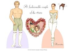 A fashionable couple of the 1820s | Gabi's Paper Dolls