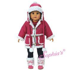 Hot Pink Sherpa Jacket & Hat