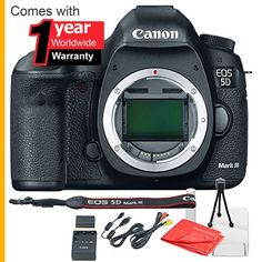Canon EOS 5D Mark III Body Only with 1 Year Worldwide Warranty