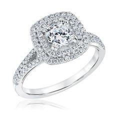 Forevermark Ideal Cushion Diamond Double Halo Engagement Ring 1 3/8ctw - Item 19543388 | REEDS Jewelers