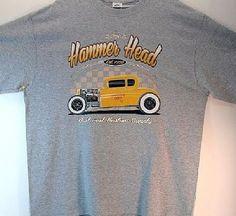 Adult Unisex T Shirt Hammer Head Hot Rod Car 17054
