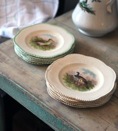 http://www.blueowlhomeboutique.com/2012/03/woods-ivory-ware-bird-plates.html