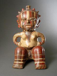 Terracotta Female Effigy,         Origin: Costa Rica Circa: 1100 AD to 1500 AD