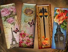 Bookmarks Tags Magnets  No 1021 by CottageAndLace on Etsy, $3.00