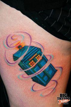 Tardis tattoo! so awesome.