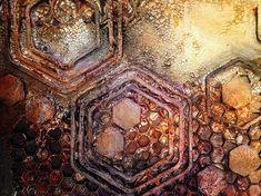 DecoArt - Mixed Media Blog - Project - Industrial Honeycomb Canvas