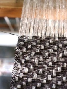 grau - silber ...High definition twill. Weaver unknown. via WeftWarp on tumblr