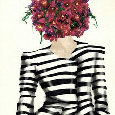 Stripes&flowers #stripes #flowers #fashion #fashionillustration #style #illustration #draw #drawingoftheday #monicaruf