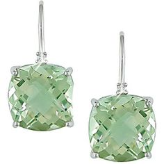 @Overstock - These pretty earrings glisten with pale green amethyst gemstones in prong settings accentuated by white diamond accents. The earrings are crafted of gleaming 10-karat white gold with shepherd's hook findings.http://www.overstock.com/Jewelry-Watches/10k-White-Gold-Green-Amethyst-and-Diamond-Accent-Earrings/3228801/product.html?CID=214117 $164.99
