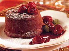 molten chocolate cakes with cherries molten cake molten chocolate ...