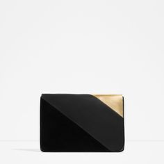 CONTRAST MATERIAL CLUTCH-View all-BAGS-WOMAN | ZARA United States