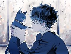 -Cute Anime Wallpaper For Iphone 5 Obtain 320480 Persona 5 Kurusu Akira Anime Anime Neko, Anime Kawaii, Manga Anime, Anime Art, Manga Cat, Cute Anime Girl Wallpaper, Anime Wallpaper Phone, Boys Wallpaper, Persona 5