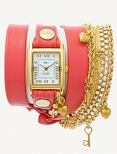 La Mer Charm Bracelet(s) Watch Collection - I'm such a girly girl! Such a cool style & so many great colors to choose from.  I love the coral, gray, sage, orange, arizona, teal & brown.