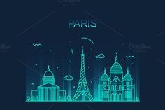 Paris City skyline by grop on @creativemarket