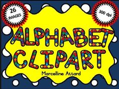 SPOTTY ALPHABET CLIPART - UPPER CASE LETTERS- OK FOR COMMERCIAL USE