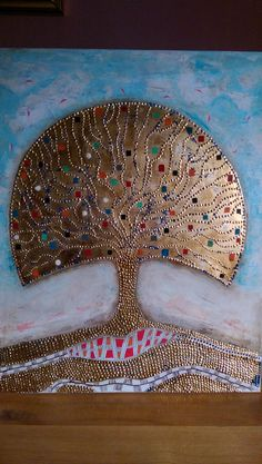 Tree of Life Tree Of Life, Hand Fan, Home Appliances, Paintings, House Appliances, Paint, Painting Art, Appliances, Painting