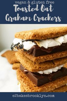 If you've been around here a while, you know that I spend 51 weeks of the year dreaming about my annual trip to Swans Island, Maine, and one week actually on the island. Graham Cracker Dessert, Gluten Free Graham Crackers, Homemade Graham Crackers, Gluten Free Treats, Gluten Free Desserts, Vegan Desserts, Vegan Gluten Free, Cookie Desserts, Bon Appetit