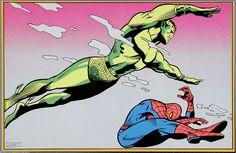 Vintage Black Light Poster Spider-Man & Namor Third Eye Inc. Dc Comics Art, Marvel Comics, Comic Art, Comic Books, Sub Mariner, Black Light Posters, American Comics, Childhood Toys, Geek Culture