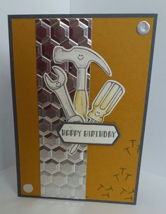 Today's Samples not only feature the nailed it stamps but also the amazing dimensional embossing folder from Stampin' up! called Hexagons D...