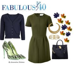 Cypress Green and Navy is a classy and very wearable color combination