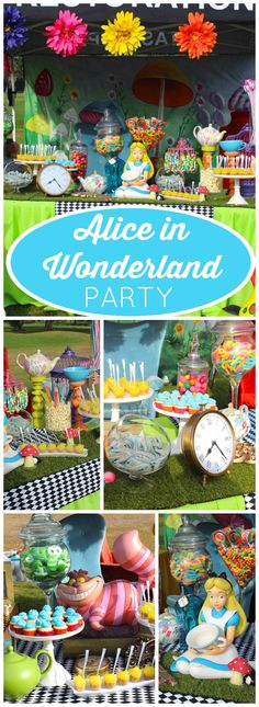 So many gorgeous details at this Alice in Wonderland party!  See more party ideas at CatchMyParty.com!