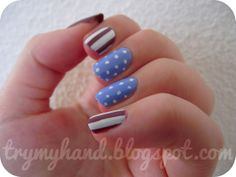 Try My Hand: NOTD : Spots and Stripes