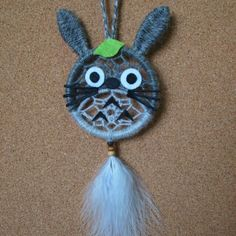 Detail: Design: Totoro DreamcatcherWidth: 7cm (ring size)Length: 20cm (WITH feather)Price: $20Need other designs