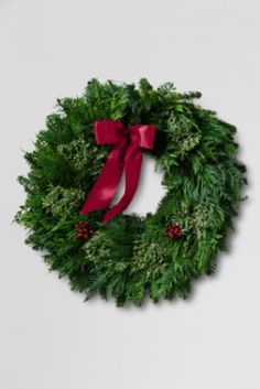 Fresh Green Wreath from Lands' End