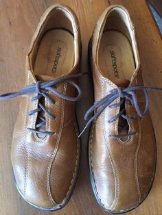 Womens 10 N Shoe Softspots Leather Upper Lace up Oxford Light Brown VGUC #SAS #Oxfords #Casual