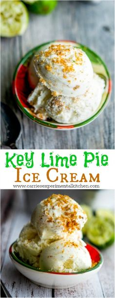 Key Lime Pie Ice Cream | CarriesExperimentalKitchen.com #icecream #vegetarian