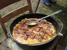 Chuck wagon peach cobbler