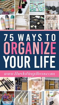 Organization Ideas organized home 75 Ways to Organize Your Life 75 fantastic ways to get organized for the New Year. Love this quick list! Organisation Hacks, Household Organization, Storage Organization, Organization For Small Bedroom, Organization Ideas For The Home, Bedroom Storage, Diy Storage, Organize Your Life, Organizing Your Home