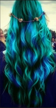 Beautiful green and blue hair!