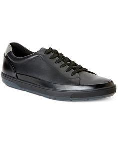 Calvin Klein Ward Leather Sneakers - All Men's Shoes - Men - Macy's