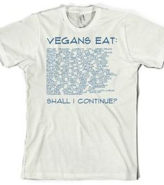 What Do Vegans Eat? - Vegan Shirts - Skreened T-shirts, Organic Shirts, Hoodies, Kids Tees, Baby One-Pieces and Tote Bags