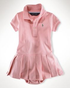 Ralph Lauren Childrenswear Infant Girls' Polo Dress - Sizes 9-24 Months