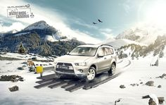 Mitsubishi Ads by Cristian Seisdedos, via Behance