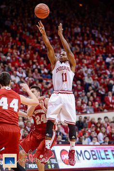 Yogi Ferrell at IU's win over No. 3 Wisconsin Way to Go Yogi! #IUCollegeBasketball