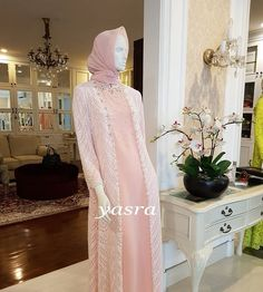 Dress Brukat, Hijab Dress Party, Kebaya Dress, Dress Pesta, Batik Dress, Lace Dress, Hijab Outfit, Muslim Fashion, Hijab Fashion