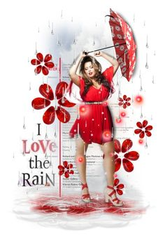 """""""I Love the Rain"""" by adaline-blooms ❤ liked on Polyvore featuring art"""
