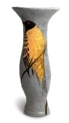 gemmaorkin.frelio.com Pottery Vase, Ceramic Pottery, The Potter's Hand, Pottery Ideas, Bird Art, Clay Art, Urn, Cape Town, Vases