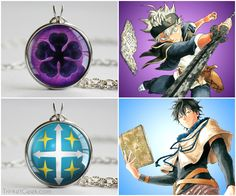 Necklaces from the anime Black Clover #anime #BlackClover #manga