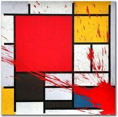 "Brainwash, Mondriart, I do not like his ""art."" Thinking his product is real art is a brainwash. Mr Brainwash, London Art, Street Art Graffiti, Street Artists, Urban Art, Installation Art, Illustrators, Modern Art, Pop Art"