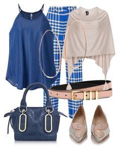 """blue mood"" by another-woman on Polyvore featuring Jacquemus, See by Chloé, Sophia Webster, Sandro, Samoon and Lana"