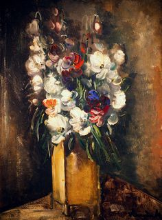 Flowers in Vase, by Maurice de Vlaminck (French, 1876-1958),